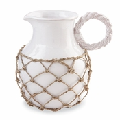 Mud Pie Net Wrapped Pitcher - CLOSEOUT