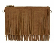 Handbag Butler Mighty Purse Fringe Brown X-Body - CLOSEOUT