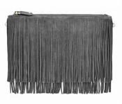 Handbag Butler Mighty Purse Fringe Grey X-Body