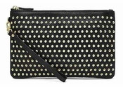 Handbag Butler Mighty Purse Stud Black W/Lg Gold Studs