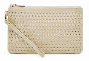 Handbag Butler Mighty Purse Stud Cream W/Lg Gold Studs - CLOSEOUT