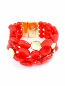 Oh My Dots! Beaded Bracelet Flame