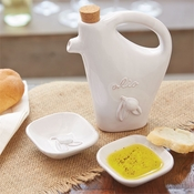 Mud Pie Oil Decanter & Dipping Cups Set - CLOSEOUT