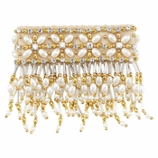 Olivia Riegel 3 Inch Emily Candle Cuff With Gold Beads - CLOSEOUT