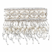 Olivia Riegel 3 Inch Emily Candle Cuff With Silver Beads