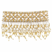 Olivia Riegel 4 Inch Emily Candle Cuff With Gold Beads
