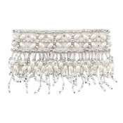 Olivia Riegel 4 Inch Emily Candle Cuff With Silver Beads