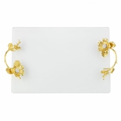 Olivia Riegel GOLD BOTANICA GLASS TRAY