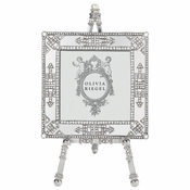 "Olivia Riegel Deco Mirror 3.5"" X 3.5"" Frame On Easel"