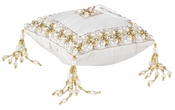 Olivia Riegel Emily Ring Bearer Pillow With Gold Beads - CLOSEOUT