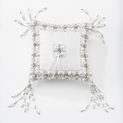 Olivia Riegel Emily Ring Bearer Pillow With Silver Beads