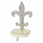 Olivia Riegel Fleur de Lis Stocking Hanger in Silvertone Metal