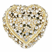 Olivia Riegel Gold Crystal Heart Box