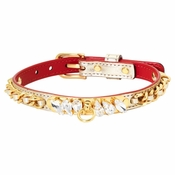 """Olivia Riegel Gold Lame """"Princess""""Dog Collar with Crystals - MD"""