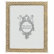 "SOLD OUT Olivia Riegel Gold Lattice 8"" x 10"" Frame - CLOSEOUT"
