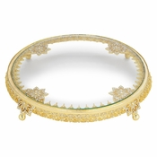 SOLD OUT Olivia Riegel Gold Windsor Cake Plateau - CLOSEOUT