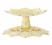 Olivia Riegel Crystal Windsor Candle Holder Gold - CLOSEOUT