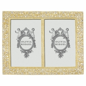 "Olivia Riegel Gold Windsor Double 4"" x 6"" Frame - CLOSEOUT"