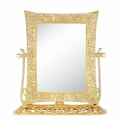 Olivia Riegel Gold Windsor Magnified Standing Mirror