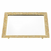 Olivia Riegel Gold Windsor Vanity Tray
