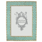 "Olivia Riegel Turquoise Susie 5"" X 7"" Frame With Metal Back"