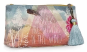 Papaya Answers Small Tassel Pouch