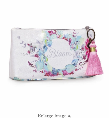Papaya Blooms Small Tassel Pouch
