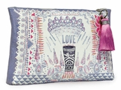 Papaya Fill Your Cup Large Tassel Pouch