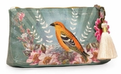 Papaya Golden Bird Small Tassel Pouch