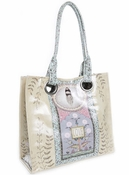 Papaya Love Feather Luxe Tote