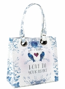 Papaya Love in Your Heart Luxe Tote - Shipping Late July