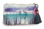 Papaya Love Runs Deep Small Tassel Pouch
