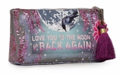 Papaya Moon & Back Small Tassel Pouch