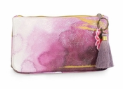 Papaya Plum Watercolor Small Tassel Pouch