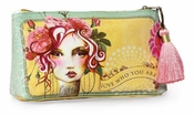 Papaya Rose Small Tassel Pouch