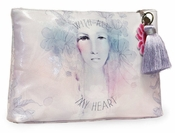 Papaya With All My Heart Large Tassel Pouch