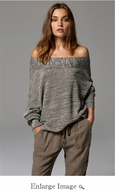 Paris Boat Neck Top - Gray - 70% OFF CLOSEOUT