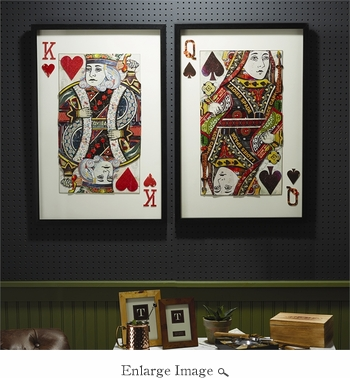Playing Card Collage Wall Art Set Of 2
