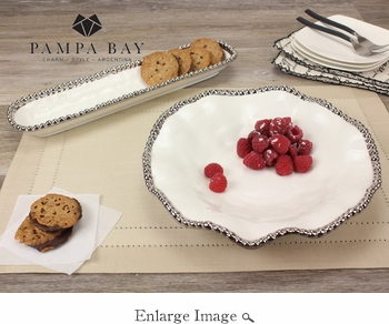 Porcelain Salerno Cracker Tray White