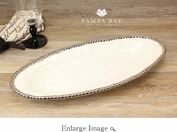 Porcelain Salerno Oval Tray White