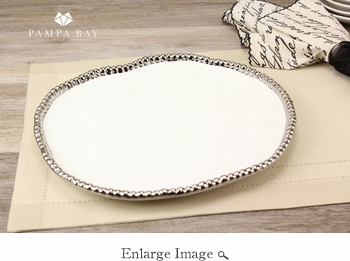 Porcelain Salerno Round Tray White