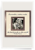 "Remember Sister Make The Best Friends 3""x 3"" Copper & Glass Photo Frame - CLOSEOUT"