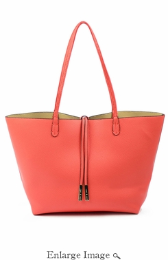SOLD OUT Remi & Reid Departure Tote Coral/Beige