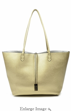 SOLD OUT Remi & Reid Departure Tote Platinum/Silver
