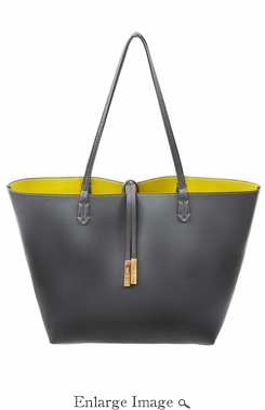 SOLD OUT Remi & Reid Departure Tote Slate/Mustard