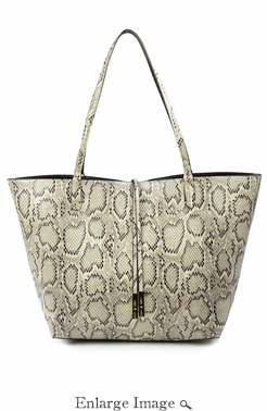 SOLD OUT Remi & Reid Departure Tote Snake Natural Bronze