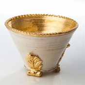 Roma Collection, Gold Acanthus Cachepot, Large