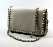 SOLD OUT Inzi Designer Bag: Sloan Clutch - Pearl