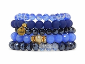 Erimish Bracelet Set Denim Bracelet Stack - SPECIAL OFFER