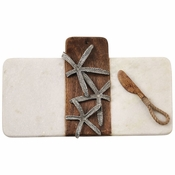 Mud Pie Starfish Marble & Wood Board Set - CLOSEOUT